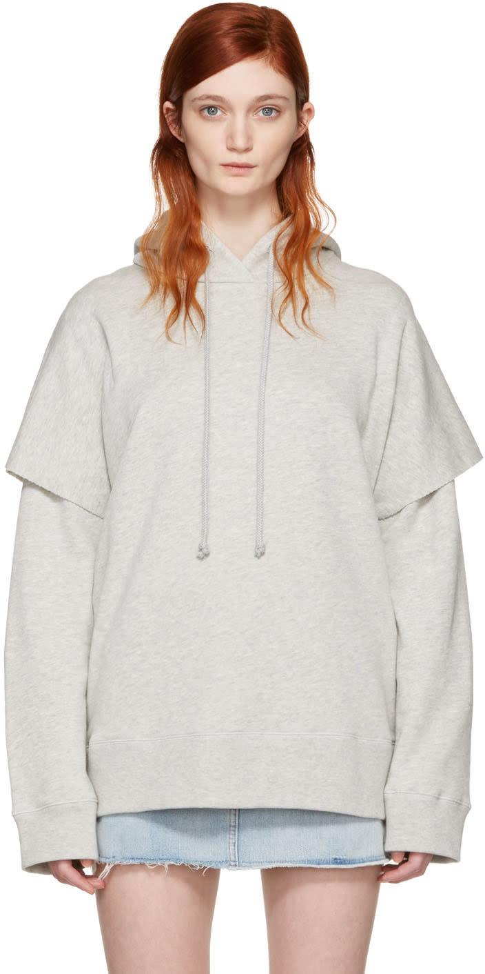 Mm6 Maison Margiela Grey Basic Layered Hoodie