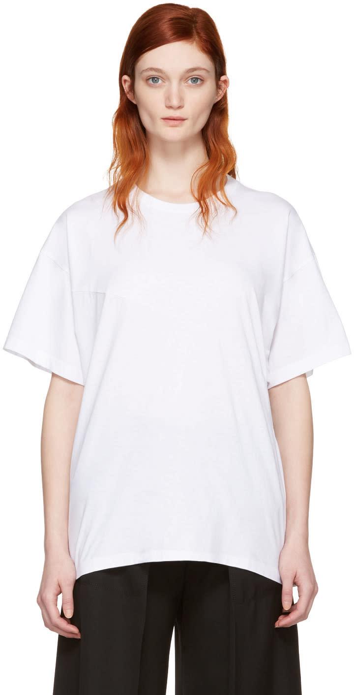 Mm6 Maison Margiela White Cotton T-shirt