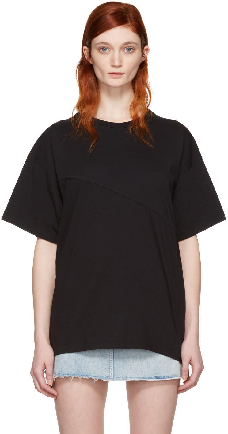 Mm6 Maison Margiela Black Reconstructed T-shirt