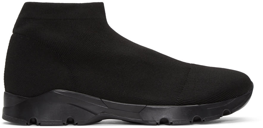 Mm6 Maison Margiela Black Short Sock Sneakers