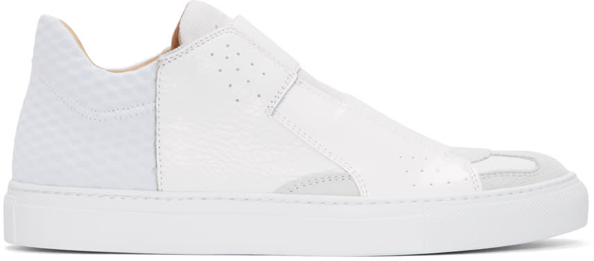 Mm6 Maison Margiela White Leather Sneakers