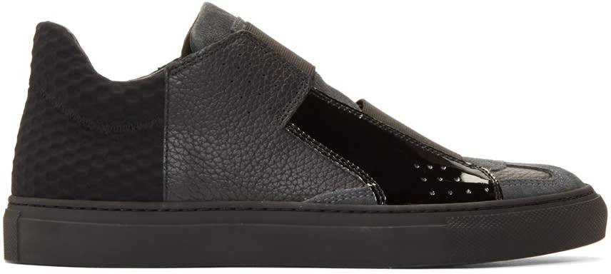Mm6 Maison Margiela Black Strap Sneakers
