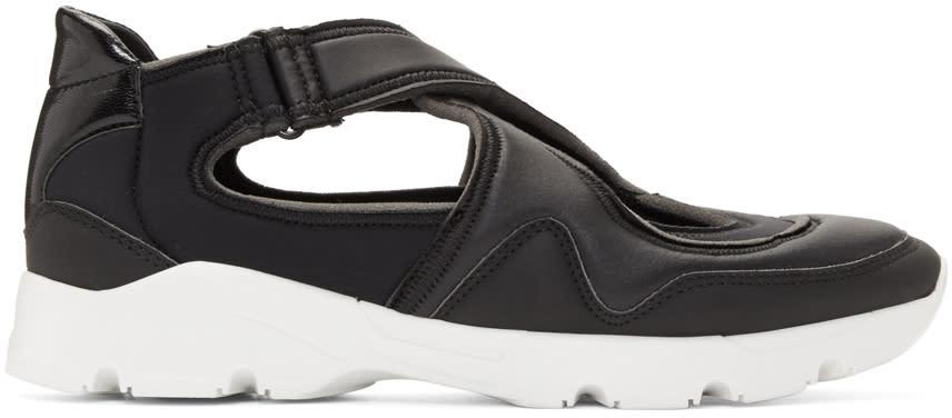 Mm6 Maison Margiela Black Cross Straps Sneakers