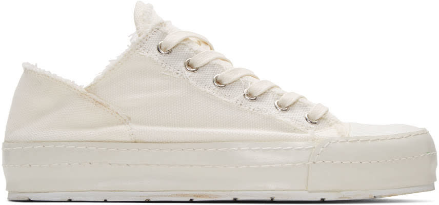 Mm6 Maison Margiela Off-white Canvas Sneakers