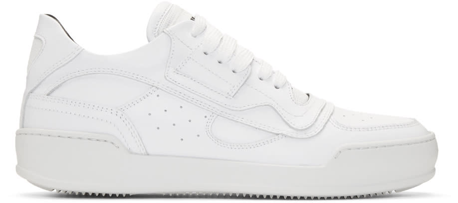 Mm6 Maison Margiela White Lace-up Sneakers