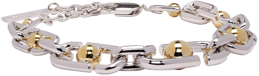 marc jacobs female marc jacobs silver icon bracelet