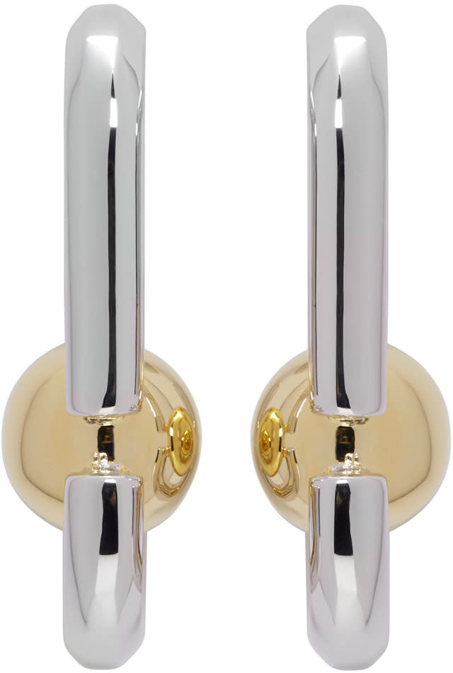 marc jacobs female marc jacobs silver icon statement earrings