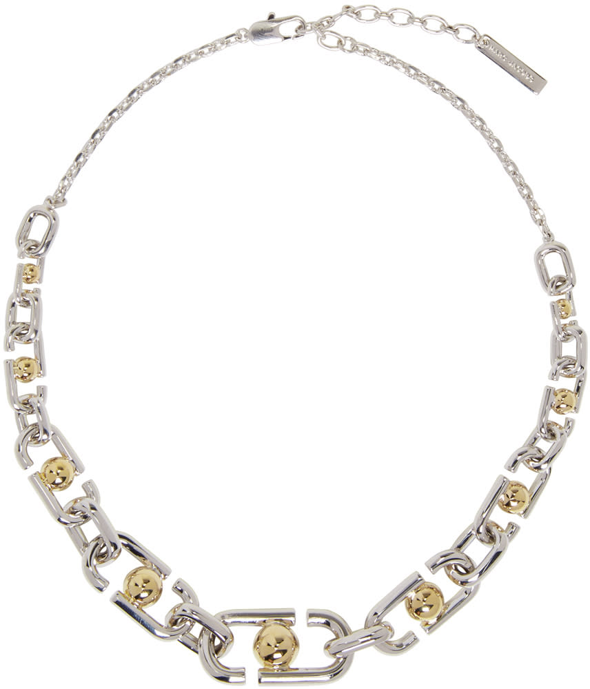 marc jacobs female marc jacobs silver icon necklace