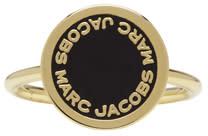 marc jacobs female marc jacobs gold enamel logo disc ring