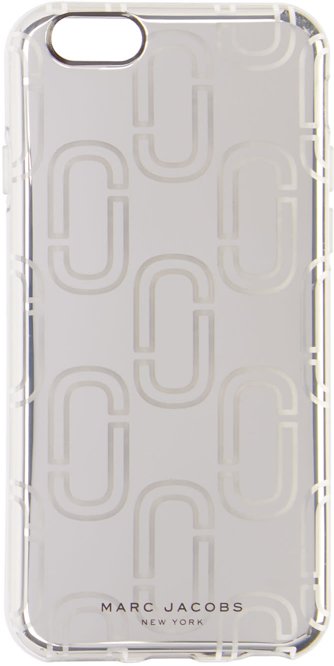 marc jacobs female marc jacobs silver logo iphone 6s case