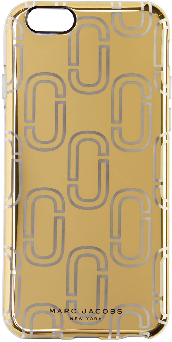 marc jacobs female marc jacobs gold logo iphone 6s case