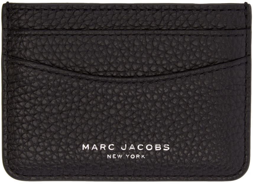 marc jacobs female marc jacobs black leather gotham card holder