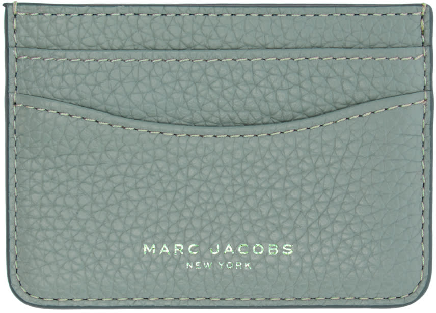 marc jacobs female marc jacobs blue leather gotham card holder
