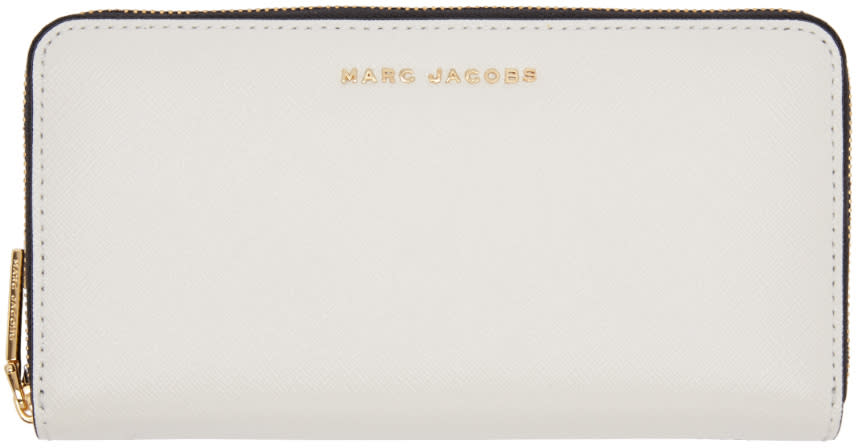 marc jacobs female marc jacobs grey and navy standard continental wallet