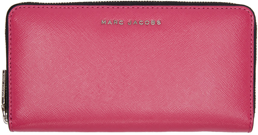 marc jacobs female marc jacobs pink standard continental wallet