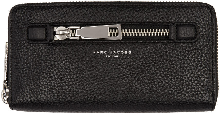 marc jacobs female marc jacobs black gotham continental wallet