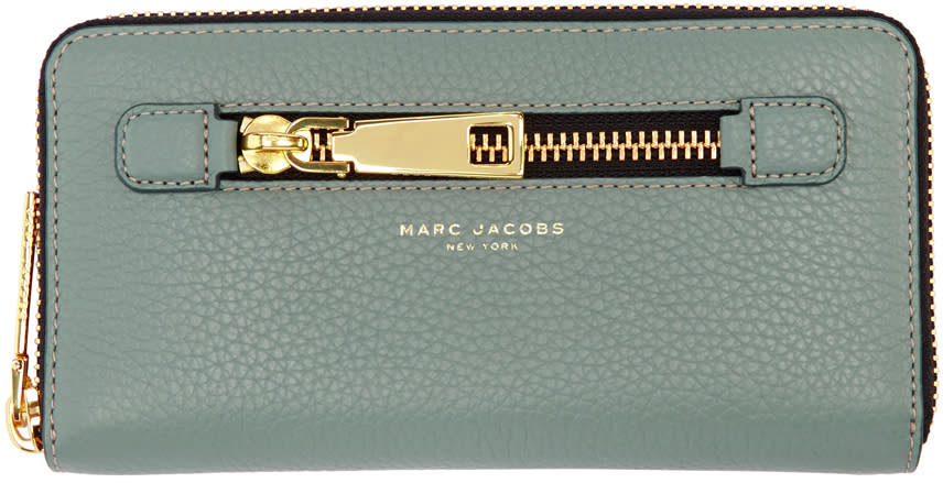 marc jacobs female marc jacobs blue gotham continental wallet
