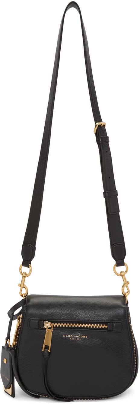 marc jacobs female marc jacobs black small recruit nomad saddle bag