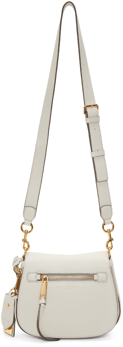 marc jacobs female marc jacobs white small nomad recruit saddle bag