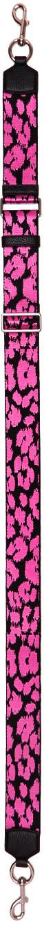 marc jacobs female marc jacobs pink webbed leopard shoulder strap