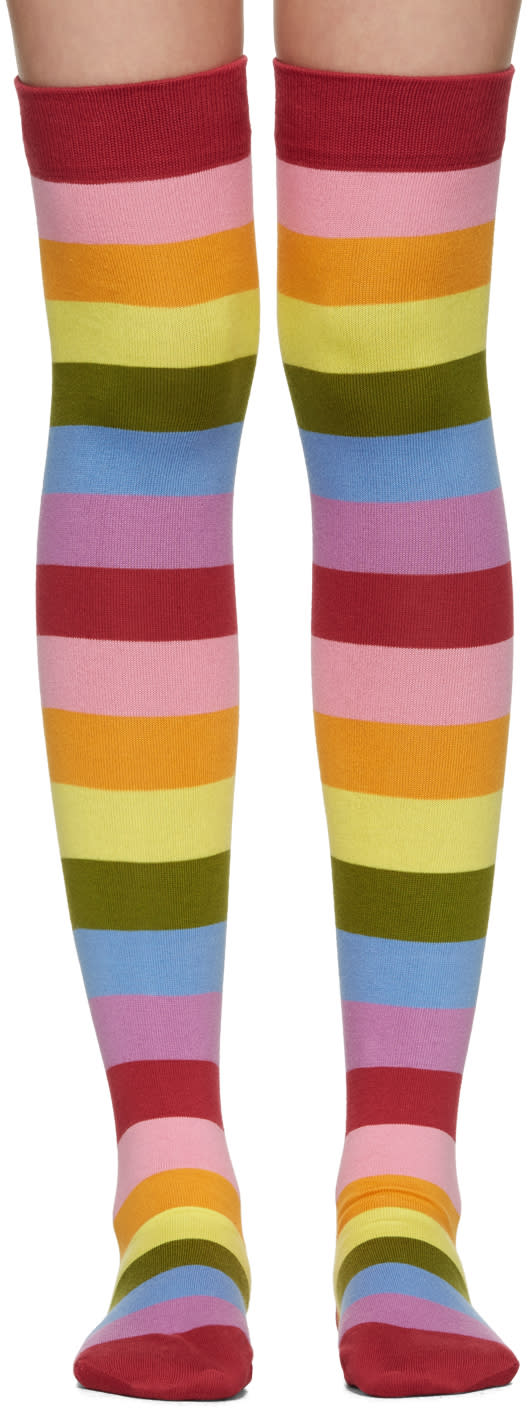 marc jacobs female marc jacobs multicolor striped socks