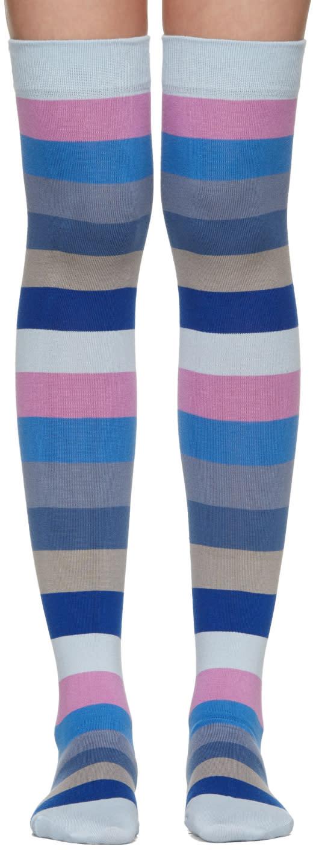 marc jacobs female marc jacobs blue striped socks
