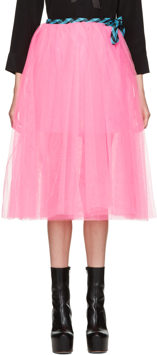 Marc Jacobs Pink Tulle Wrap Skirt