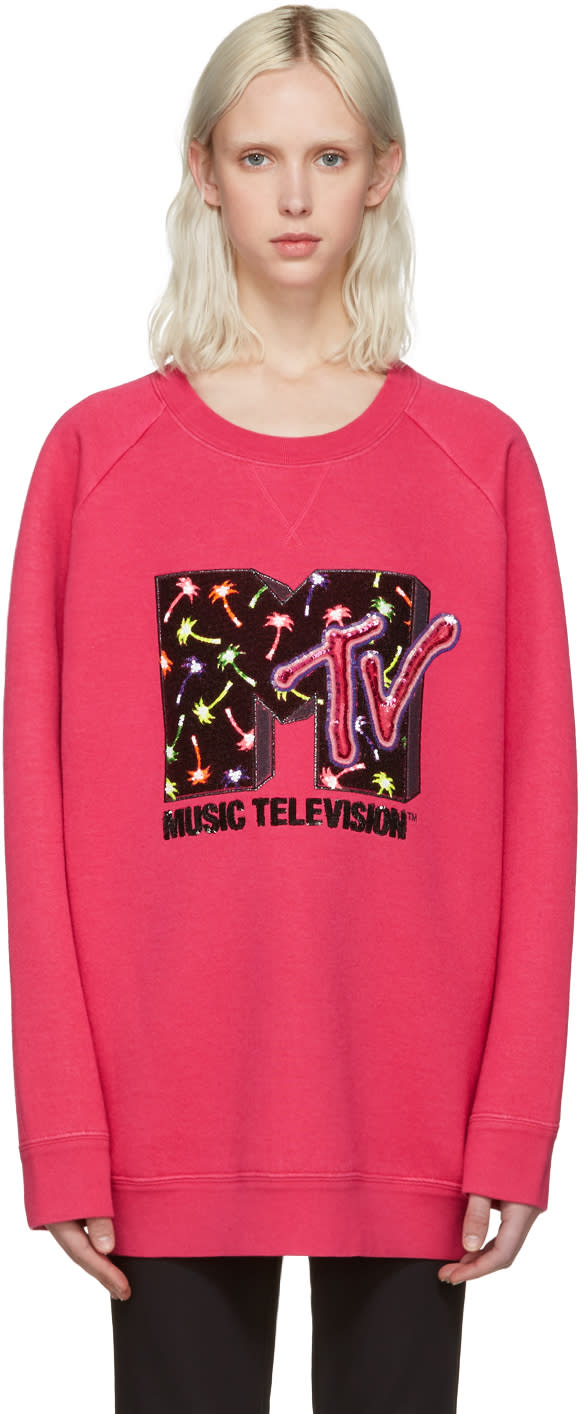 marc jacobs female marc jacobs pink palms mtv pullover