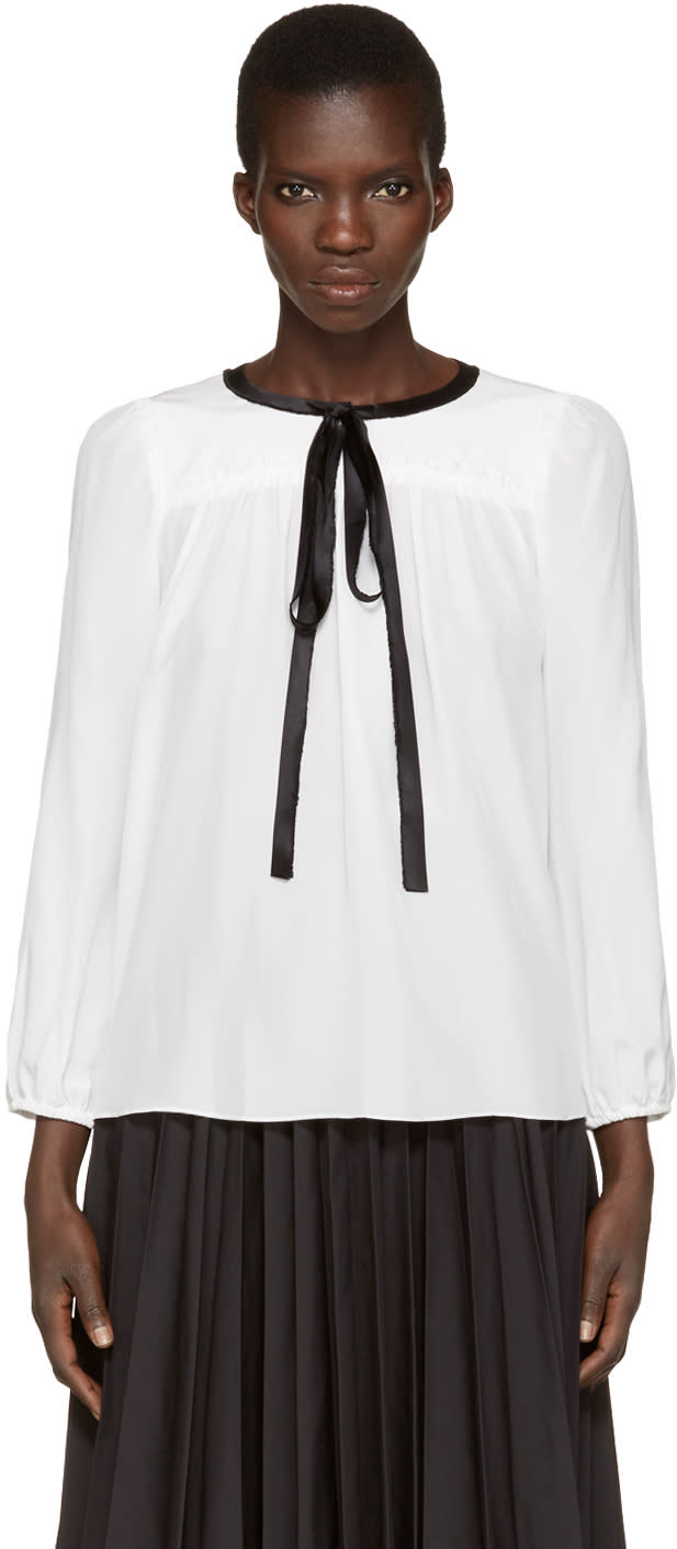 marc jacobs female marc jacobs white silk blouse