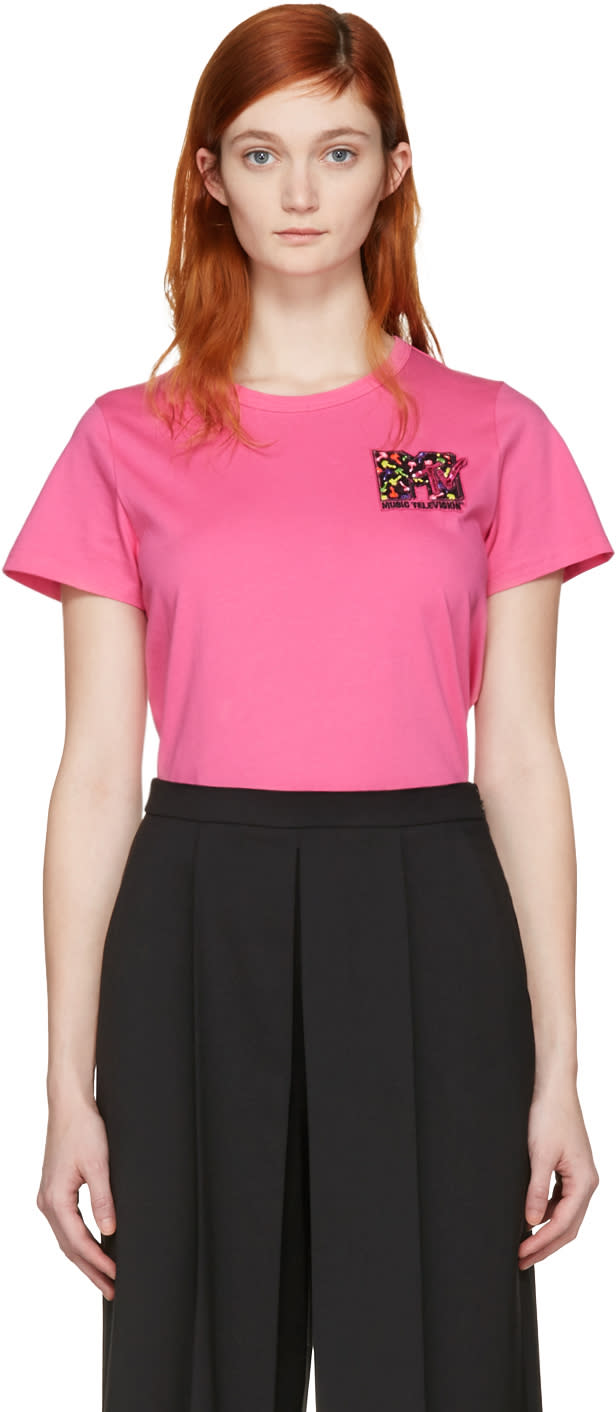 marc jacobs female marc jacobs pink classic mtv tshirt