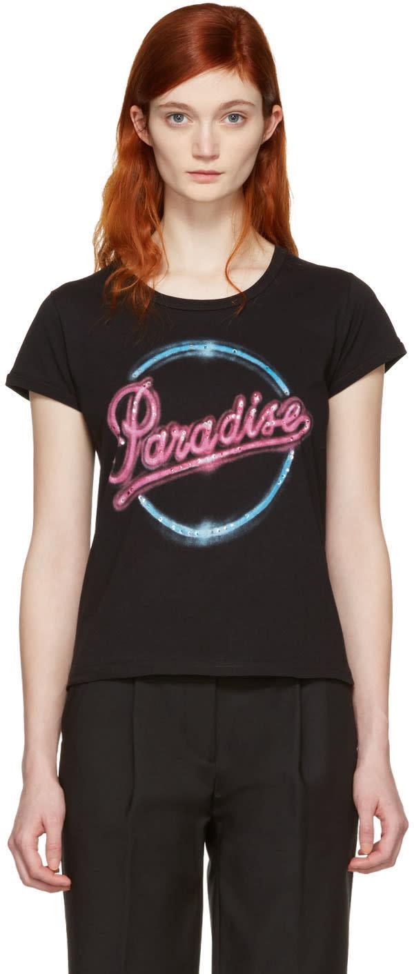 marc jacobs female marc jacobs black paradise tshirt
