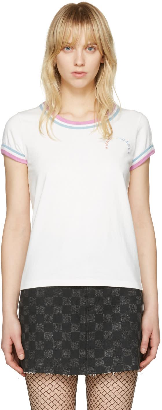 marc jacobs female marc jacobs ivory rainbow 70s tshirt