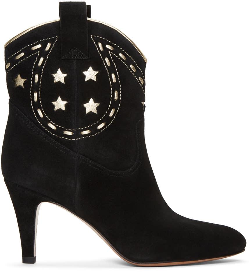 marc jacobs female marc jacobs black suede georgia cowboy boots