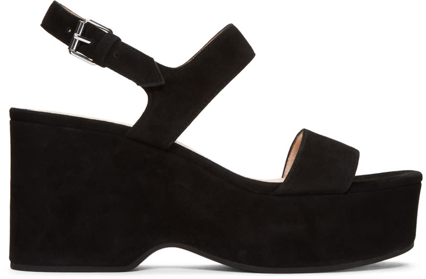 Marc Jacobs Black Suede Lily Sandals