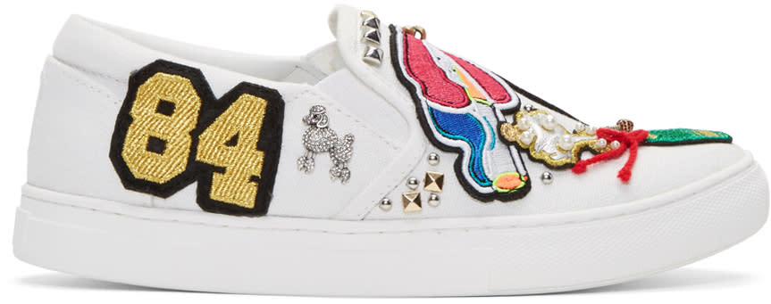 Marc Jacobs White Embroidered Mercer Sneakers