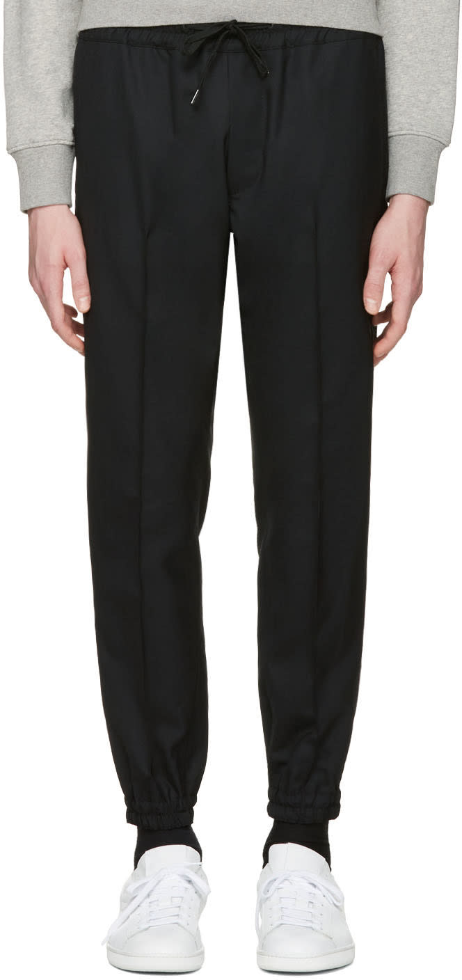 marc jacobs male marc jacobs black wool trousers