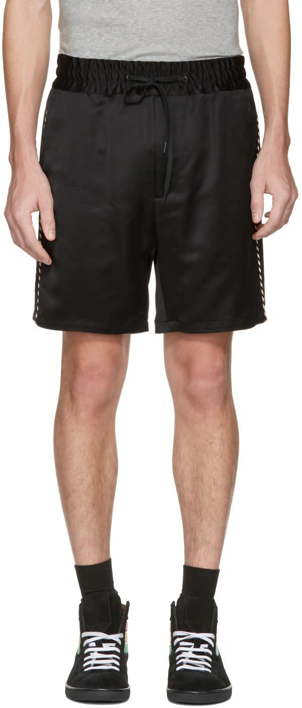 Marc Jacobs ブラック サイド ストライプ ショーツ