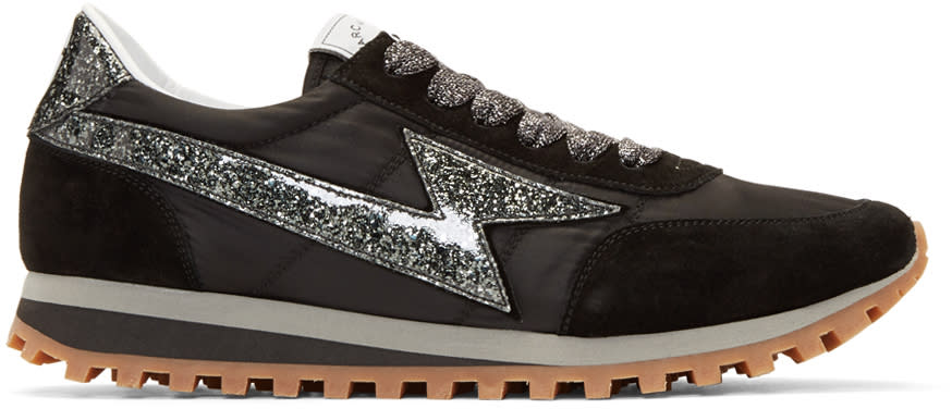 marc jacobs male marc jacobs black lightning sneakers