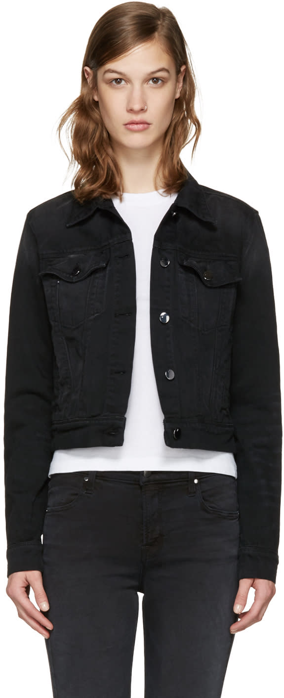 Image of J Brand Black Denim Harlow Trucker Jacket