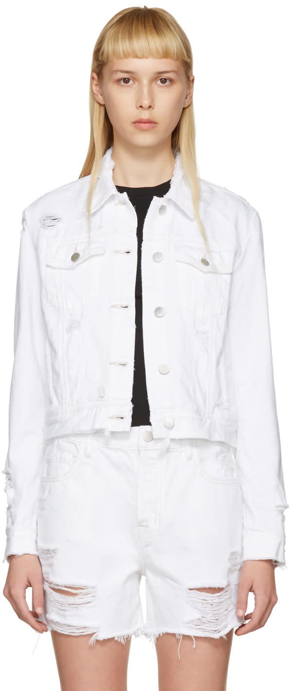 J Brand White Denim Harlow Jacket