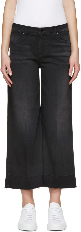 J Brand Black Liza Mid-rise Culotte Jeans