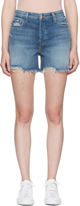 J Brand Blue Denim Ivy High-rise Shorts