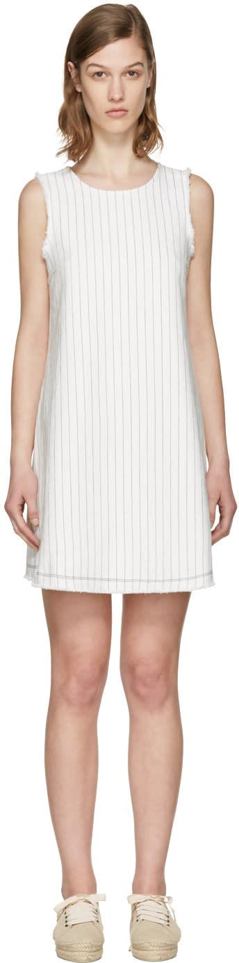 T By Alexander Wang White Cotton Burlap Dress