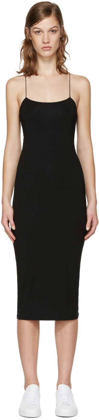 T By Alexander Wang Black Cut-out Cami Dress