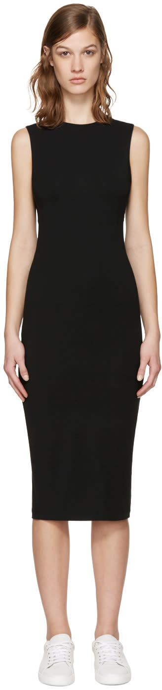 T By Alexander Wang Black Back Slits Dress