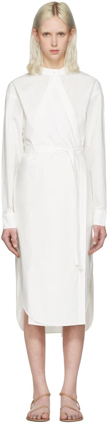 T By Alexander Wang Ivory Waist Tie Shirt Dress