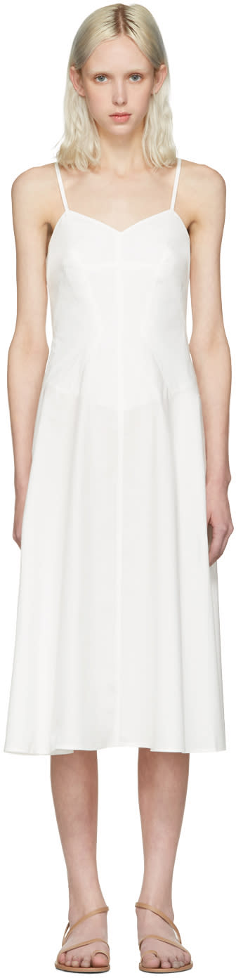T By Alexander Wang Ivory Poplin Cami Dress