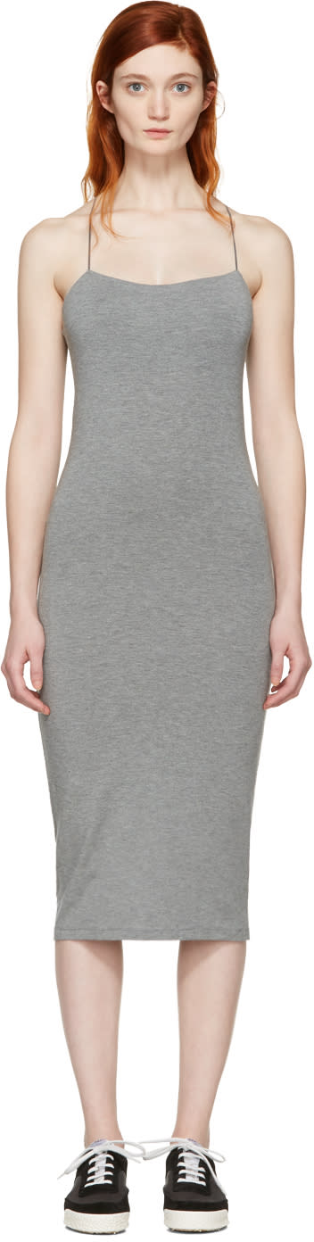 T By Alexander Wang Grey Strappy Cami Dress