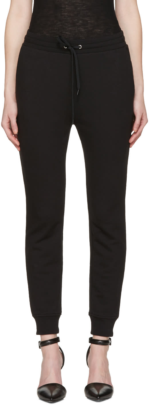 T By Alexander Wang Black French Terry Lounge Pants