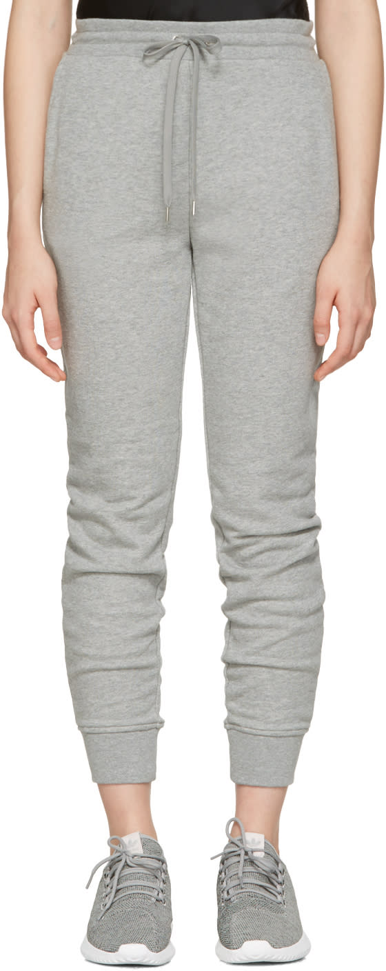 T By Alexander Wang Grey French Terry Lounge Pants
